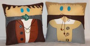 Handmade LOTR Frodo and Sam v2.43 Pillow Set by RbitencourtUSA