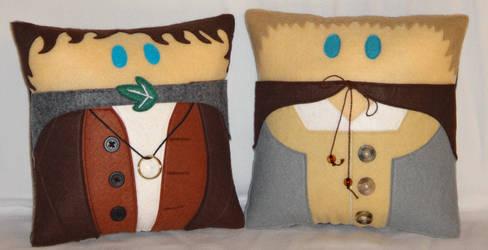 Handmade LOTR Frodo and Sam v2.43 Pillow Set