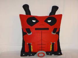 Handmade Deadpool with Katanas v1.43 Plush Pillow by RbitencourtUSA