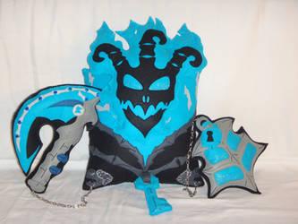 Handmade LOL Blue Thresh v1.43 Plush Pillow Set by RbitencourtUSA