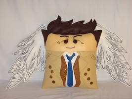 Handmade Supernatural Castiel Angel v1.43 Pillow by RbitencourtUSA