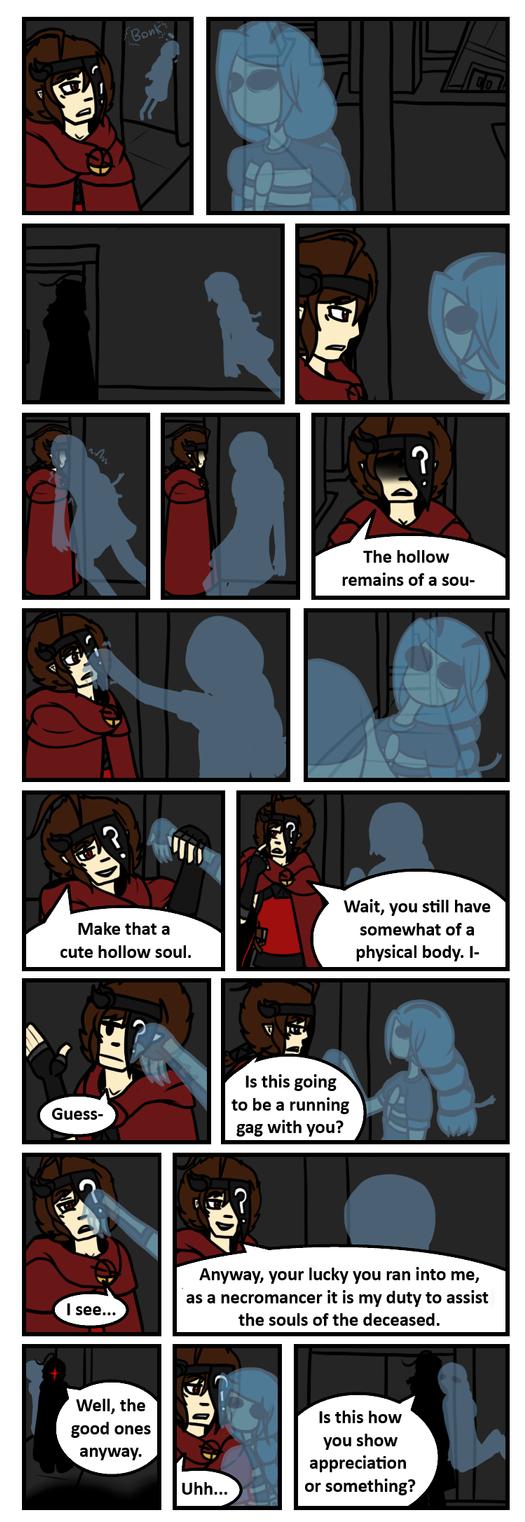 AfterLifeOCT: Audition Comic Page 2 by Unknownfalling