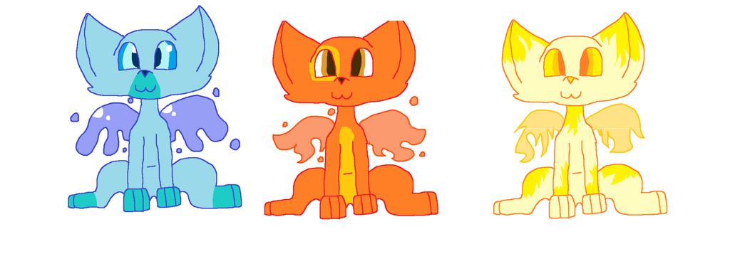 Elemental themed adoptables by cobratanaki