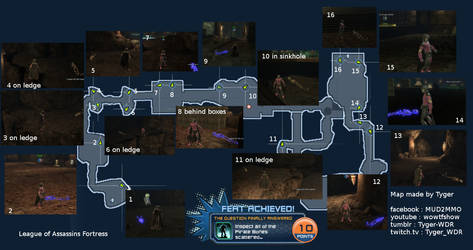 The Question Answered : Full map DCUO feat w/ pics