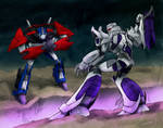 Optimus vs. Megatron 02