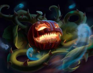 Halloween pumpkin by Saltamor