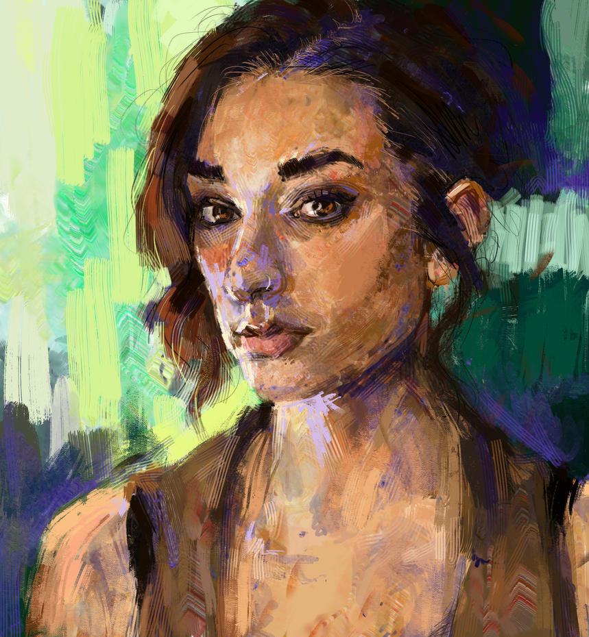 Self Portrait by BitterOblivion