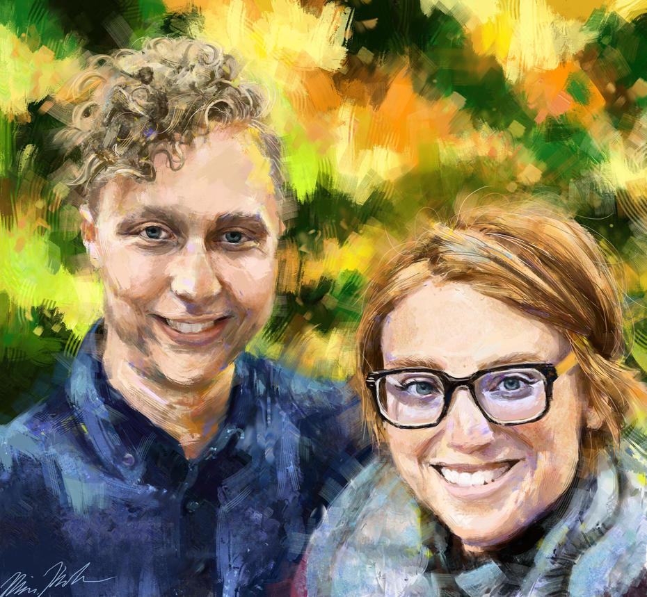 Fall Colours Portrait by BitterOblivion