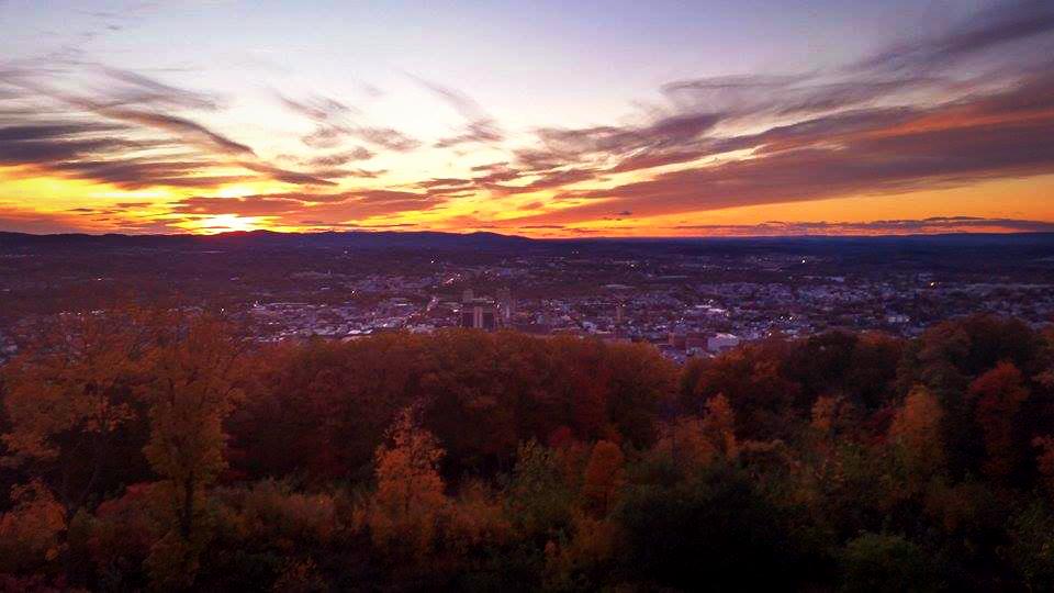 Sunset from the Pagoda by EnyaVonFrankenstein