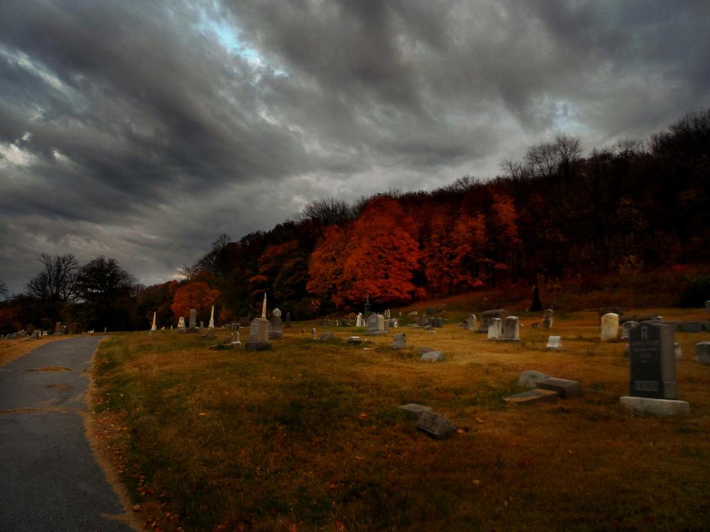 Cemetery on the hill.. by EnyaVonFrankenstein