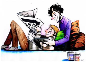 Sherlock: Watercolor 1 by Lascaux