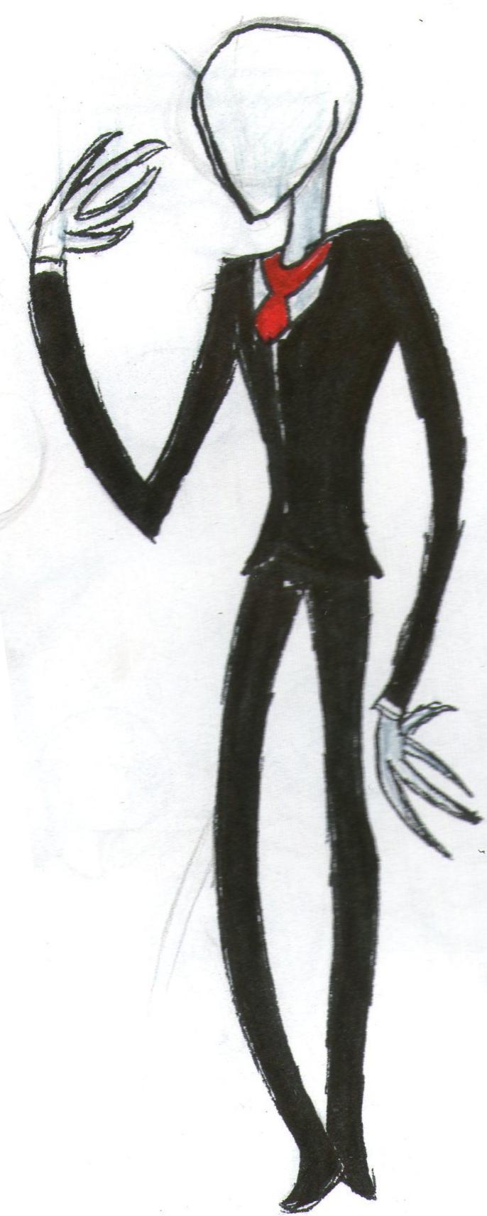 Slender man in color by mrs monsterchocolate on deviantart for Slender man coloring pages