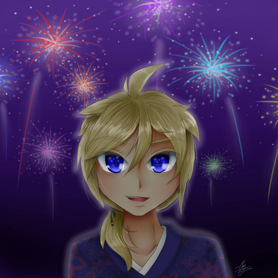 Len and Fireworks by Damianne-Violet