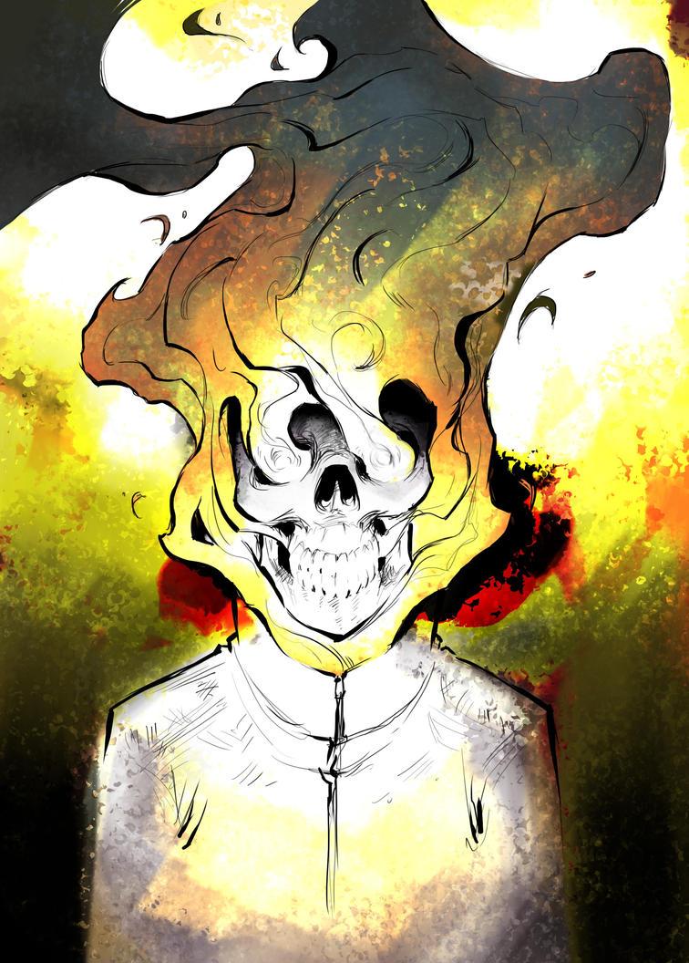 Fire Raging....ghostrider fan art by lossairredhead