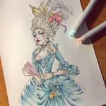 Marie Antoinette for Inktober 2019 by Alik-Melnikov