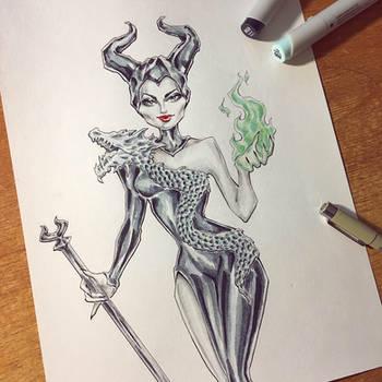 Maleficent for Inktober 2019 by Alik-Melnikov