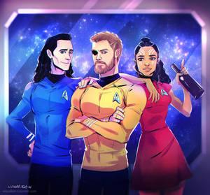 Thor Ragnarok and Star Trek crossover
