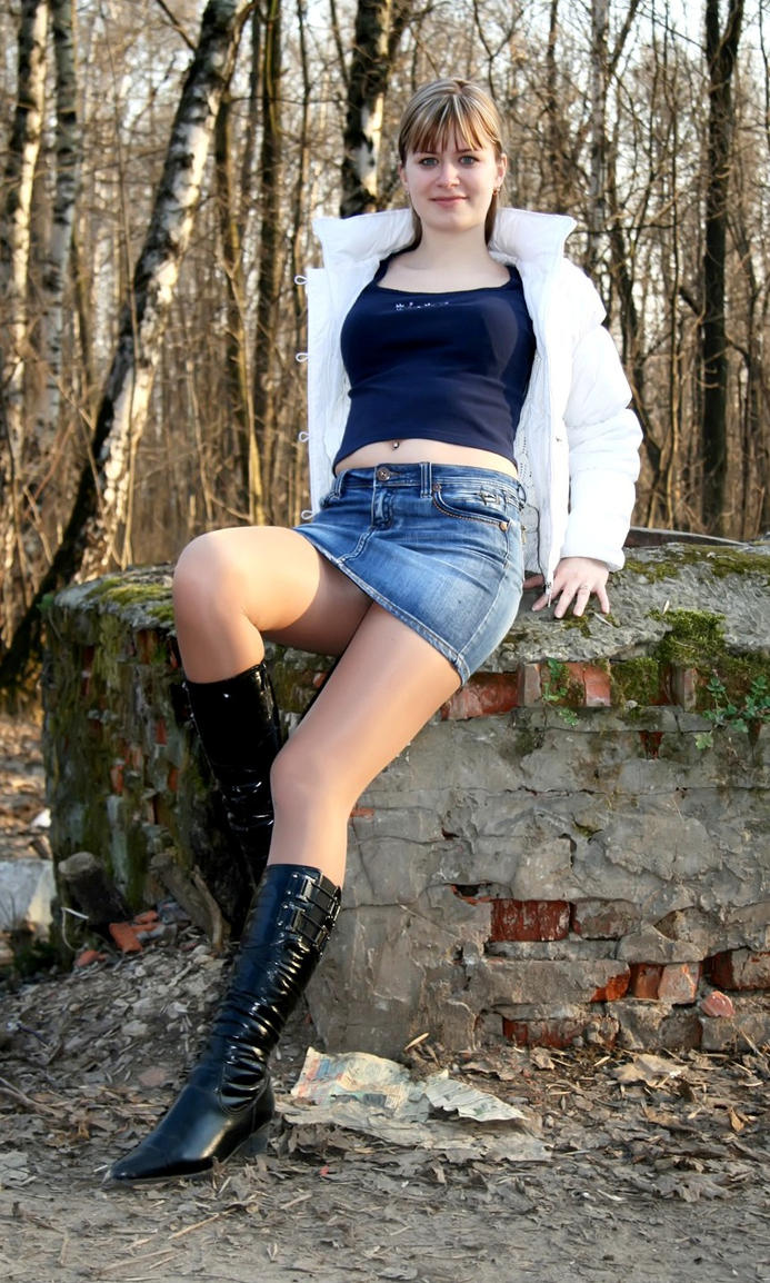 Photographing pantyhose models