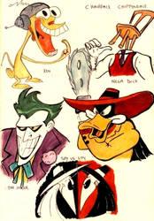 Study of cartoon characters