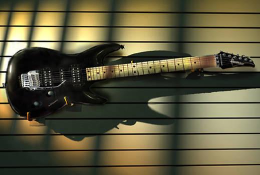 3d Modeled Ibanez Guitar
