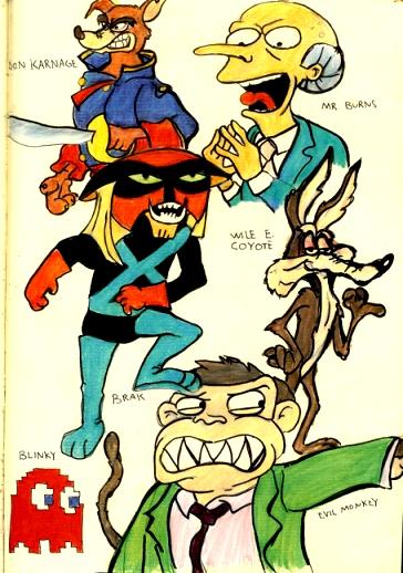 Cartoon Characters Evil : Evil cartoon characters by patrickjoseph on deviantart