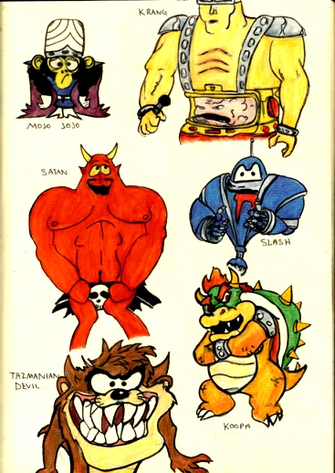 Evil Cartoon Characters 2 by PatrickJoseph on DeviantArt