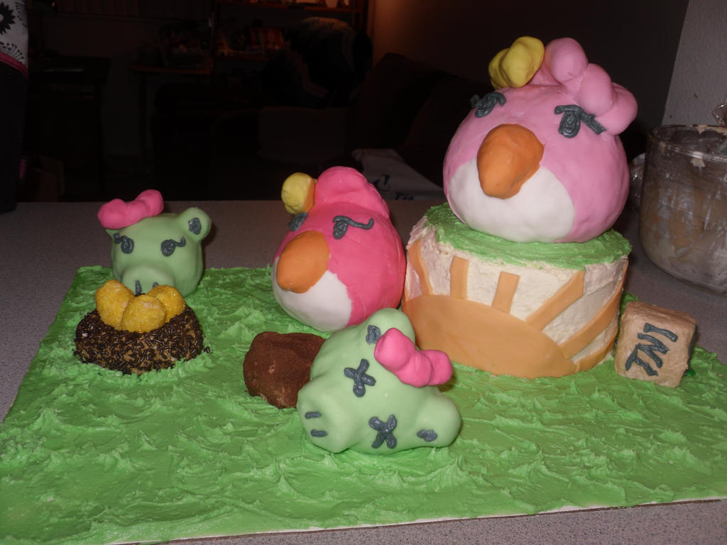 Angry birds cake by Chezza-yume