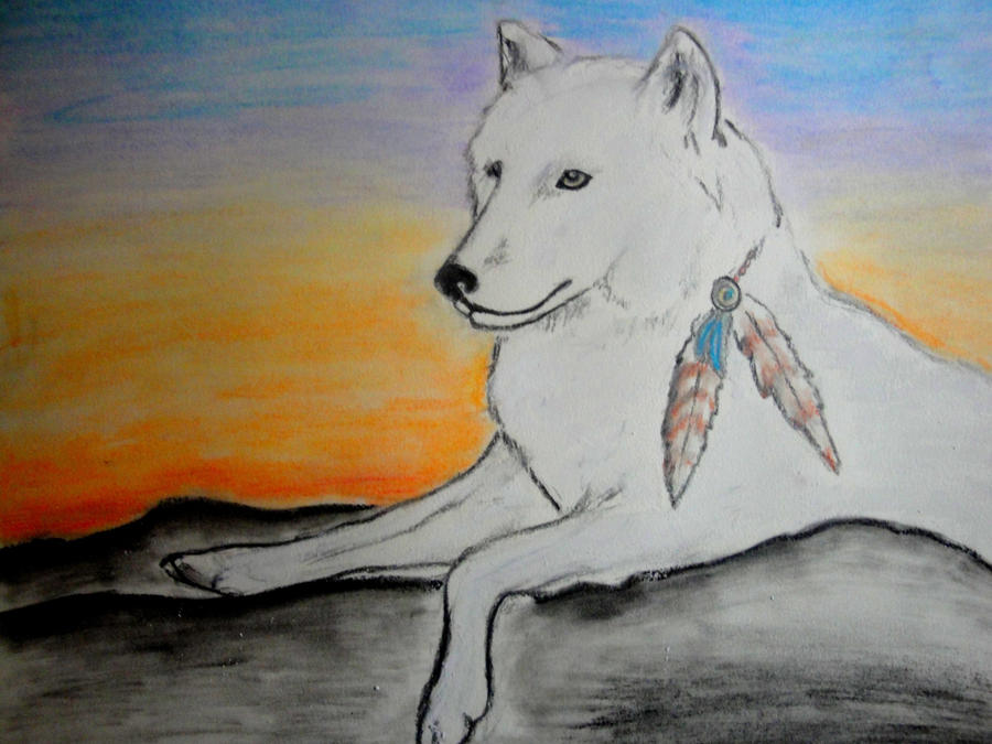 Image Gallery native american wolf drawings