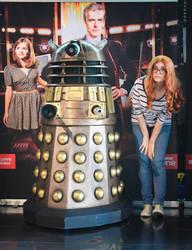 Amy Pond and the Dalek by valeravalerevna