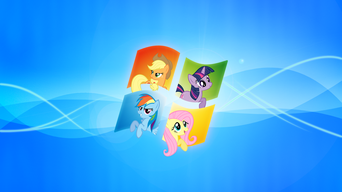 windows my little pony wallpaper by piranhaplant1 on