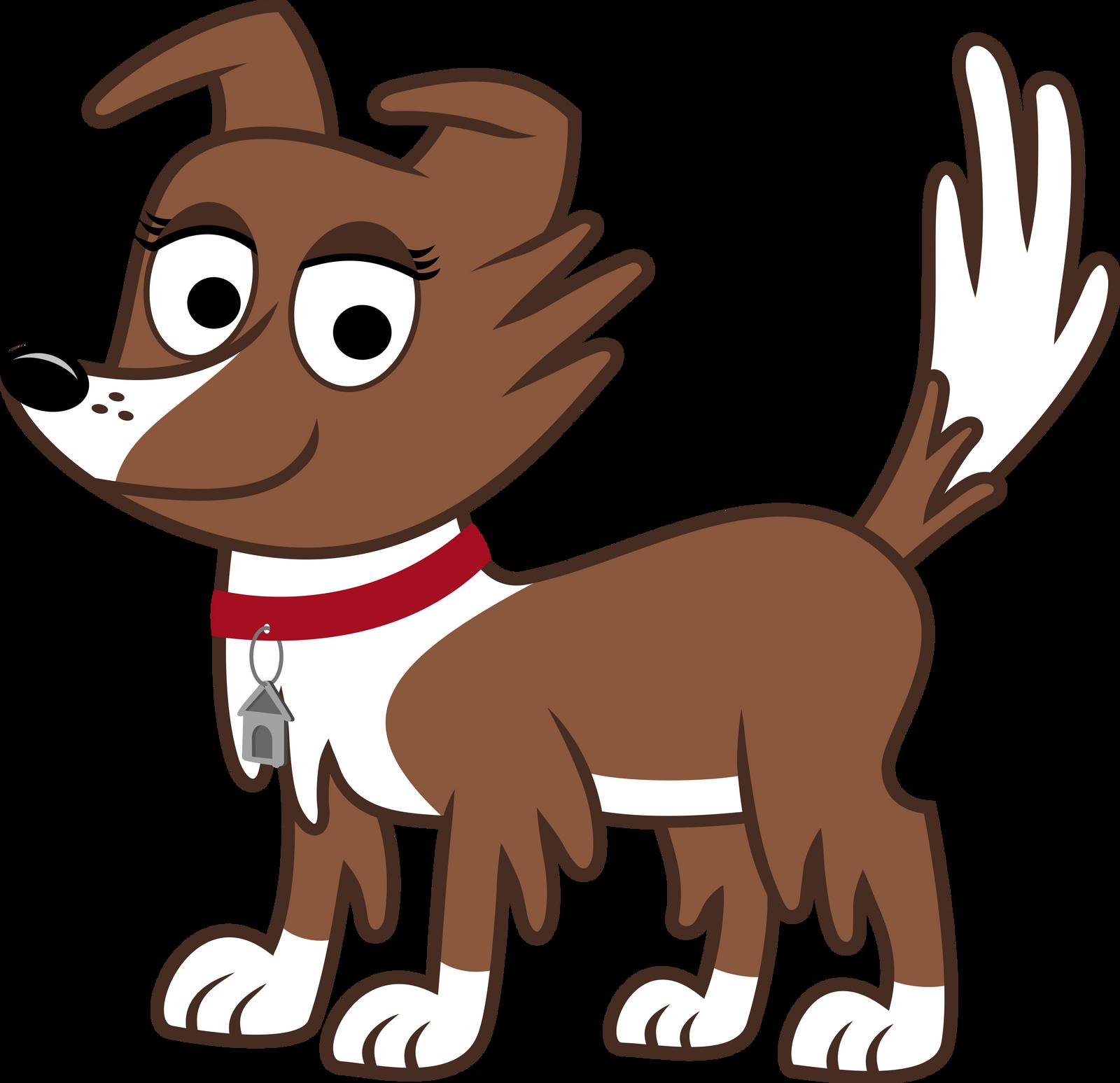 Cartoon Dog Giving The Finger