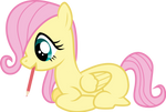 Filly Fluttershy Draws