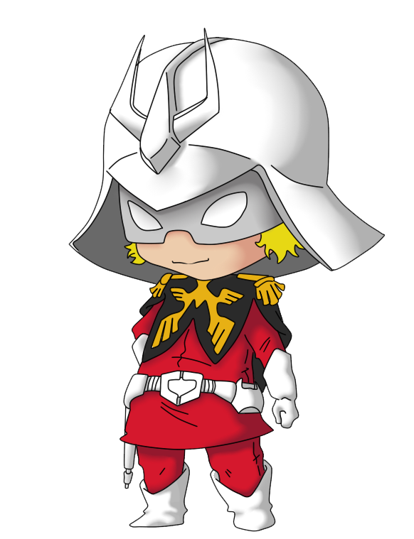 Chibi Char Aznable colored by Vejit