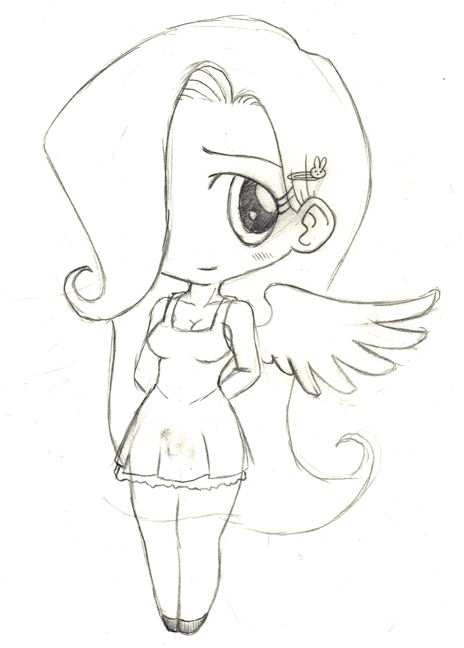 human fluttershy coloring page wwwimgkidcom the