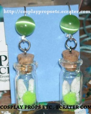 OOT - Fairy in Bottle Earrings by Requiem-Of-Time