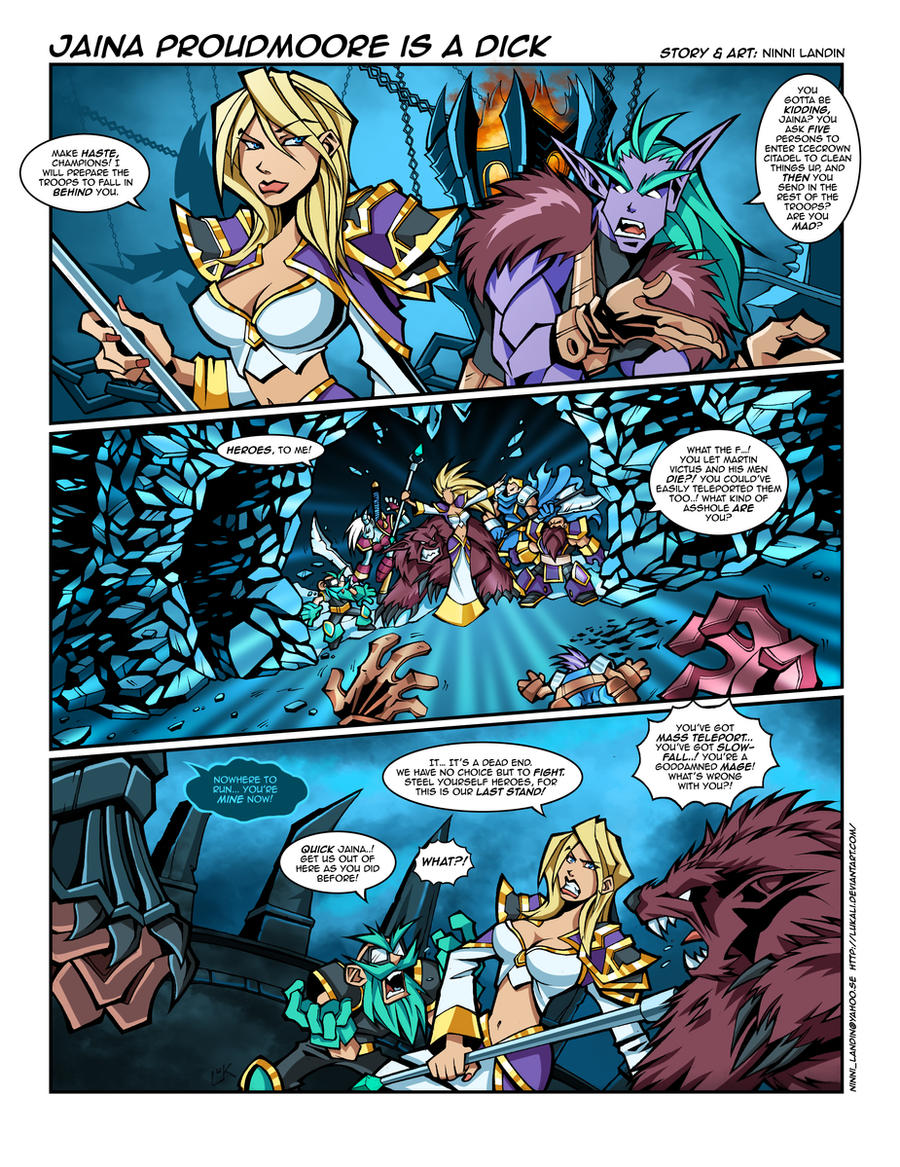 WoW Comic - Jaina is a dick by Lukali