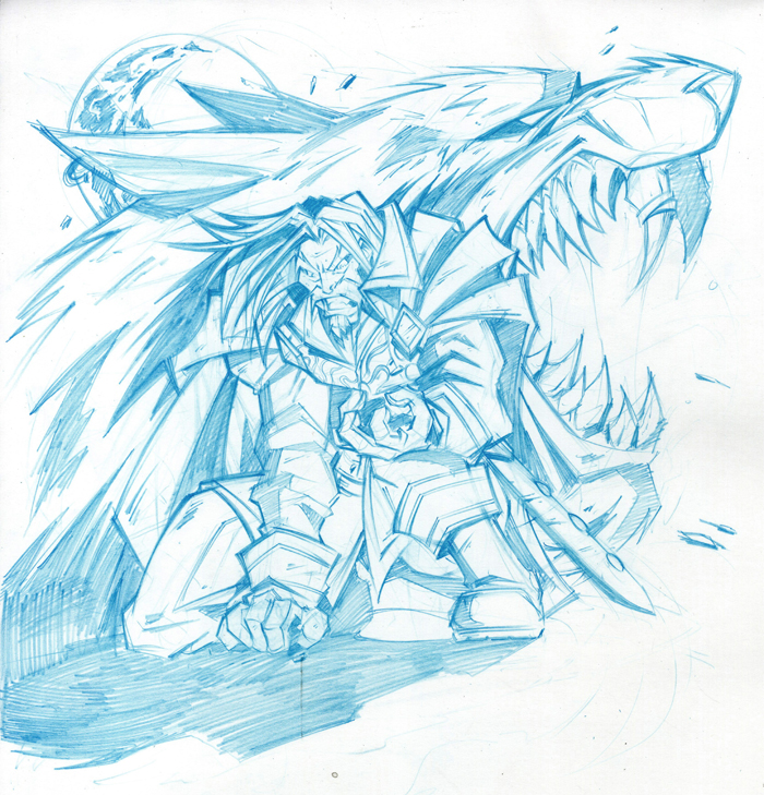 Genn Greymane - Pencils by Lukali - 603.0KB