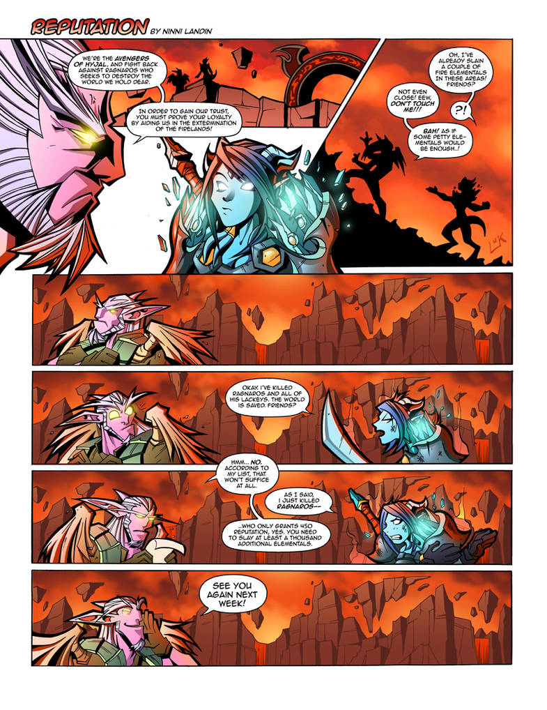 WoW Comic - Reputation by Lukali on DeviantArt