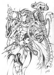 Holdan the Necromancer by Lukali