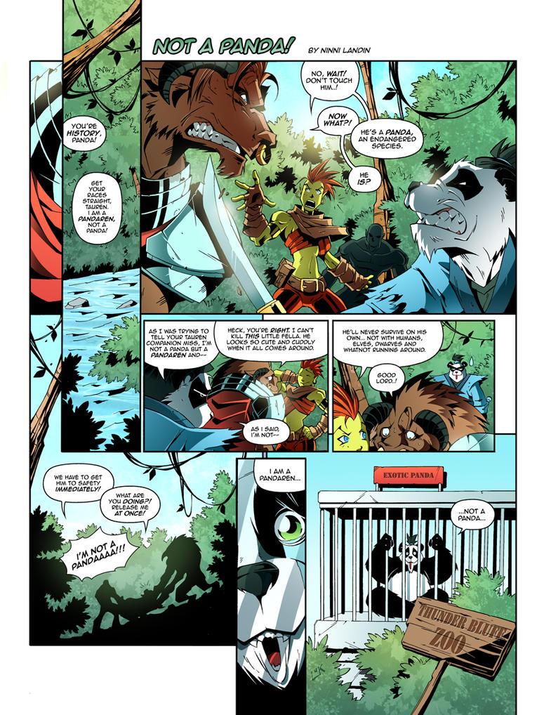 WoW Comic - Not a Panda by Lukali