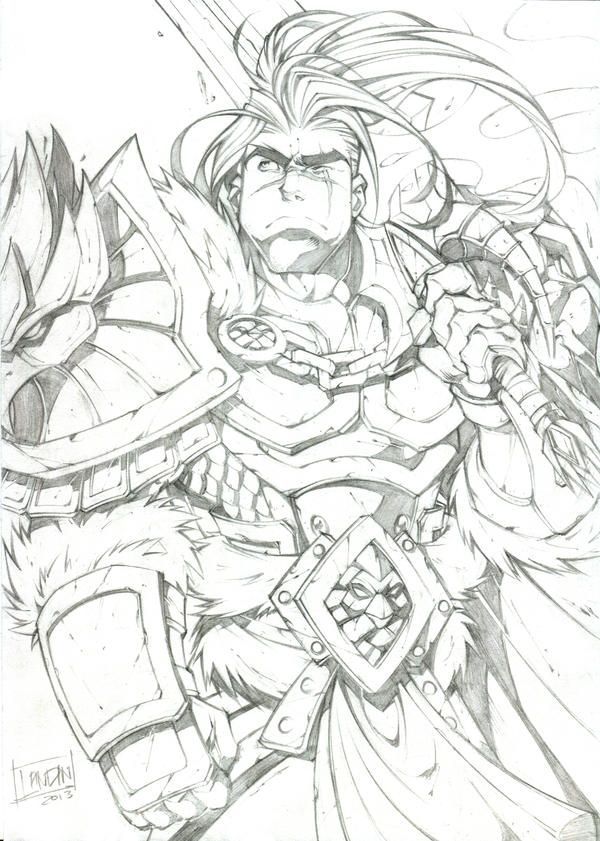 Varian Wrynn - Pencils by Lukali