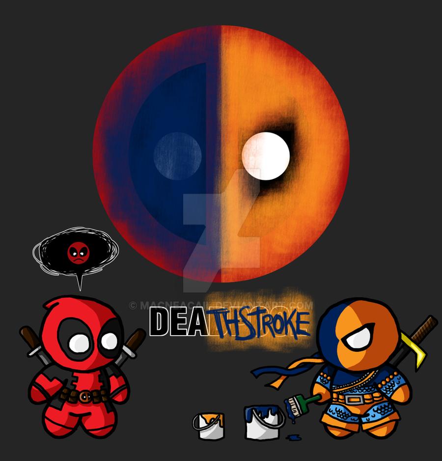 Deadpool Vs Deathstroke By MacNeacail