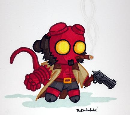 Ickle Hellboy by MacNeacail