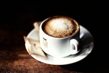 A cup of foamy sunshine