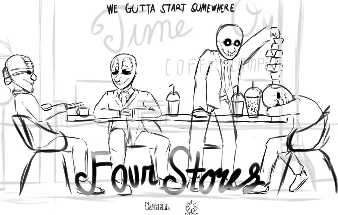 WIP - Four Stores Poster by Parody-of-Eve