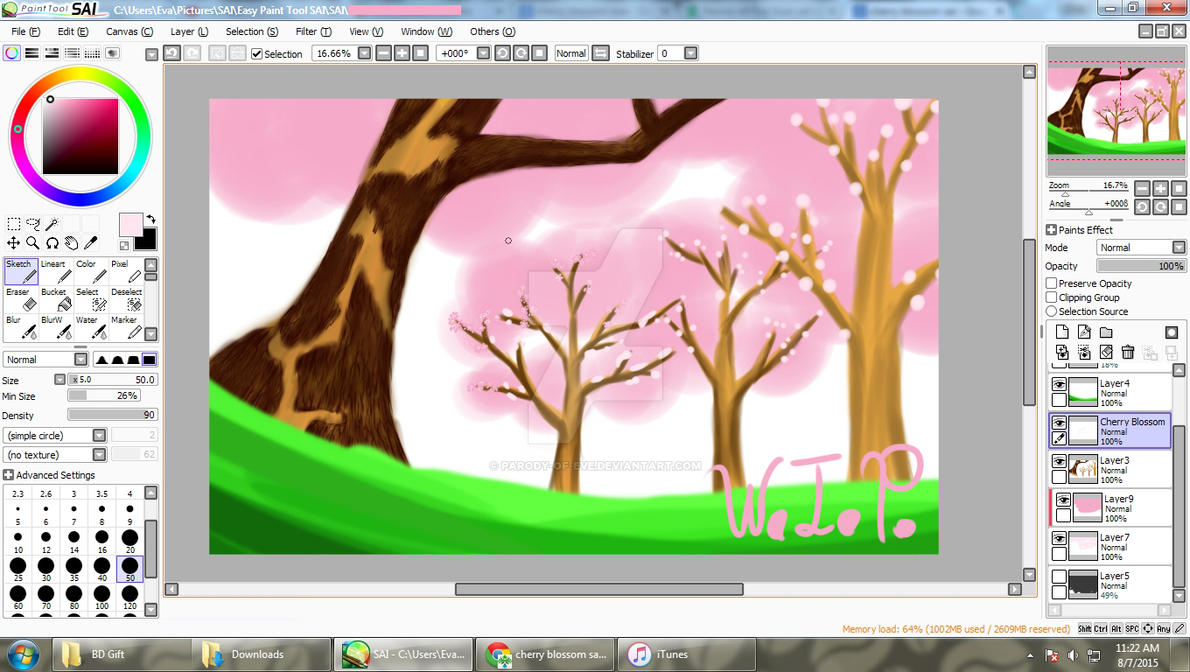 WIP - Under the Cherry Blossoms by Parody-of-Eve