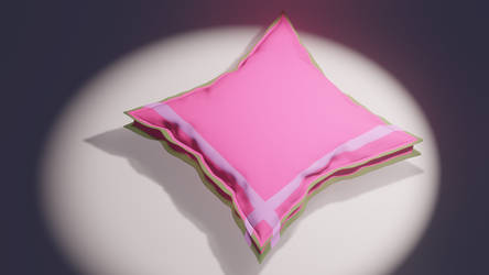 3D - Pink Cushion pillow by mshafimd