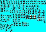 More sprite weapons working
