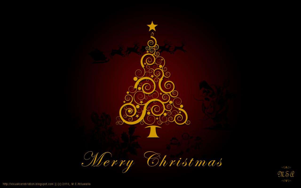 Wallpaper :: Merry Christmas by msahluwalia