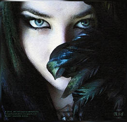 MA00020 :: Lady behind feathers by msahluwalia